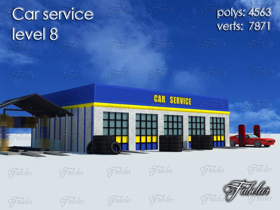 c4d car service level 8