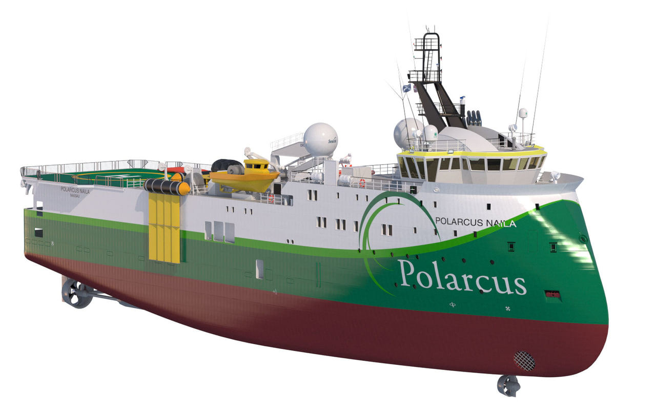 seismic vessel polarcus naila 3d model
