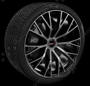 3d model mak wheel