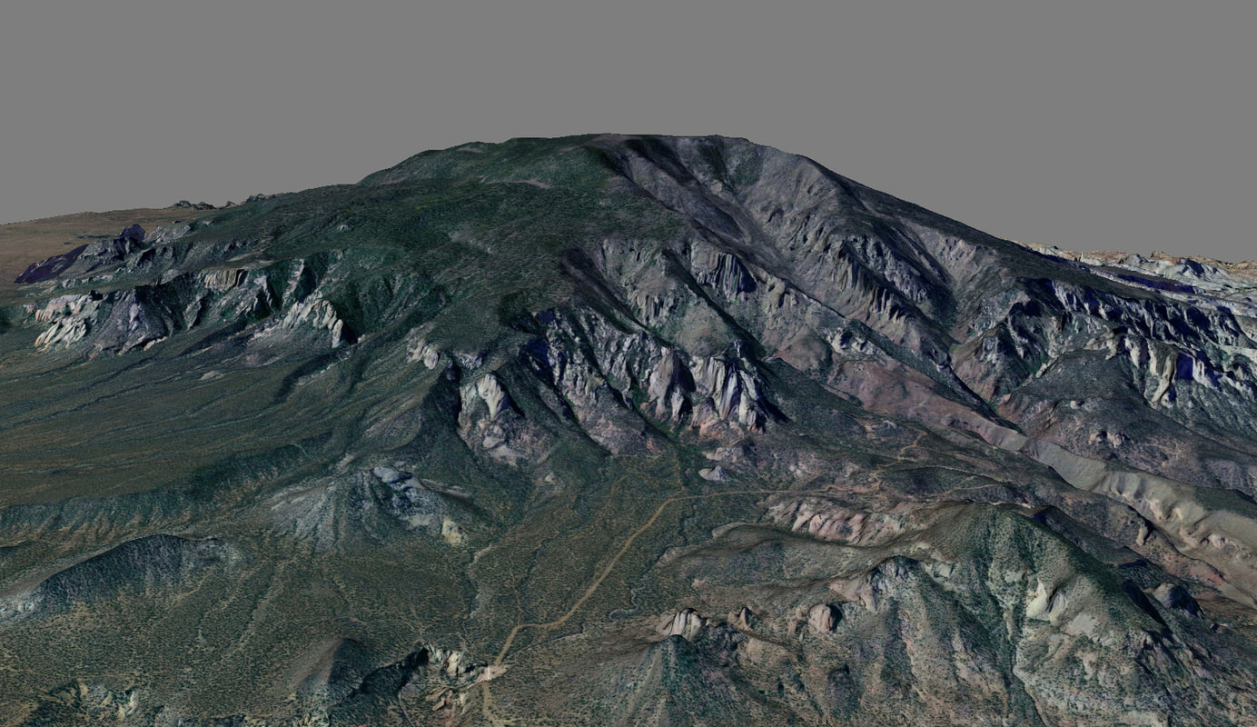 mesh navajo mountain 3d model