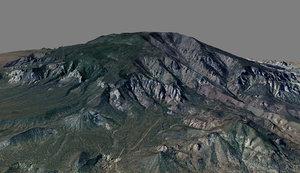 mesh navajo mountain 3d model