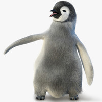 3d model juvenile emperor penguin