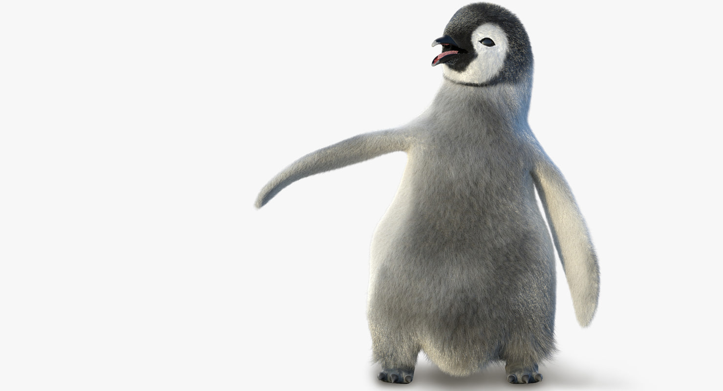 3d model juvenile emperor penguin