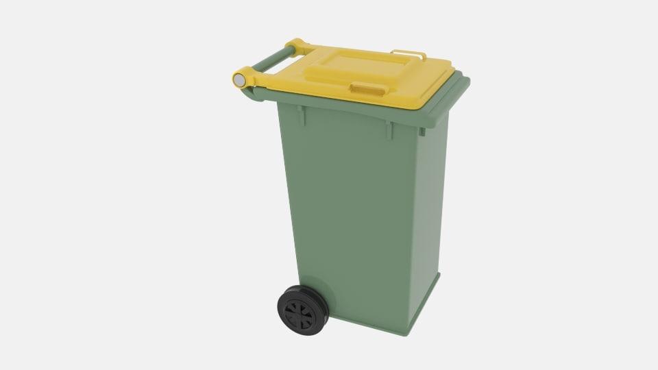 mobile rubbish bin 3d 3ds