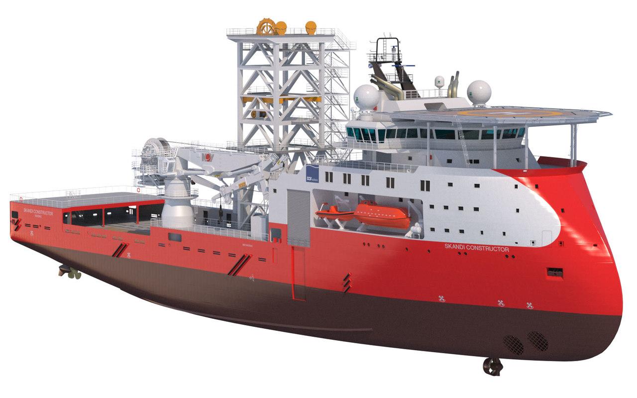 3d model construction intervention vessel skandi