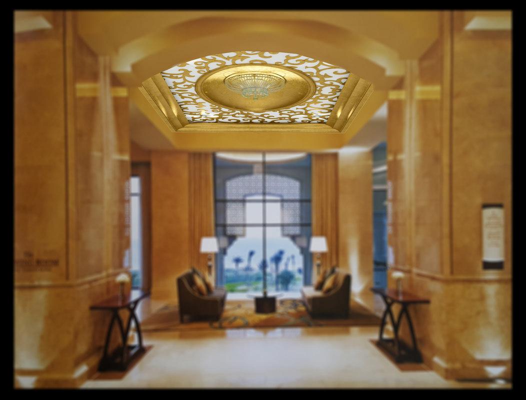 ornament ceiling 3d max