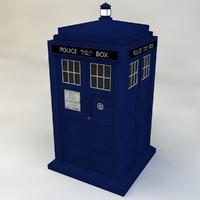 tardis doctor 3d model