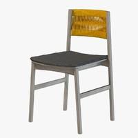 3d x wood chair