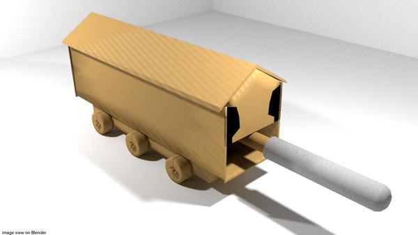 3d ram siege medieval model