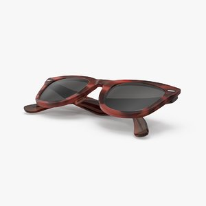 vintage sunglasses folded 3d max