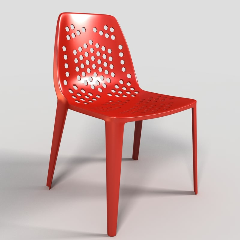 cafe chair 3d max