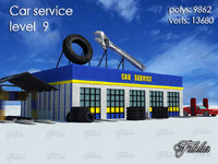 car service level 9 3d model