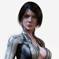 3d sci fi girl