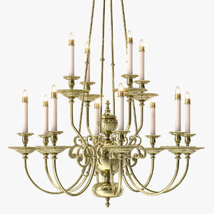 brass chandelier arms 12 3d max