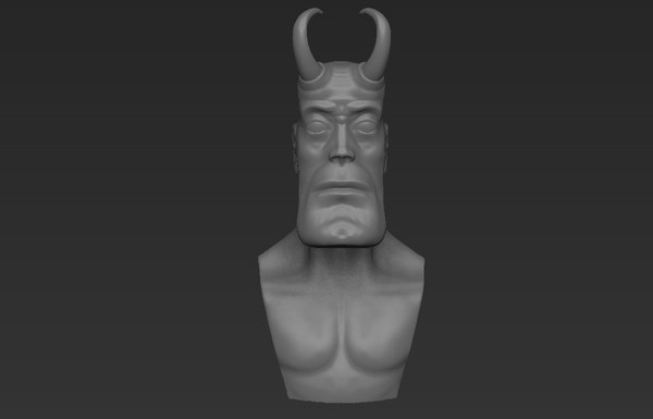 3d model devil cartoon brutal