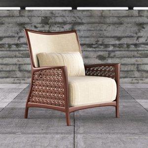 3d model chair cobogo saccaro