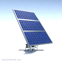 riged solar panel 3d max