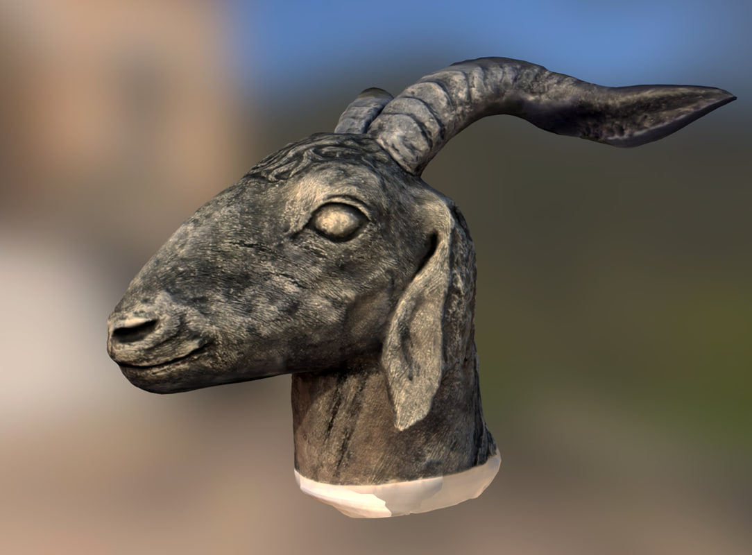 obj photoscan goat weathered