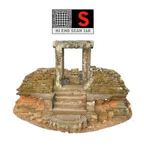 3d model angkor thom temple 16k
