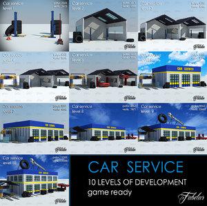 car service 10 levels 3d model