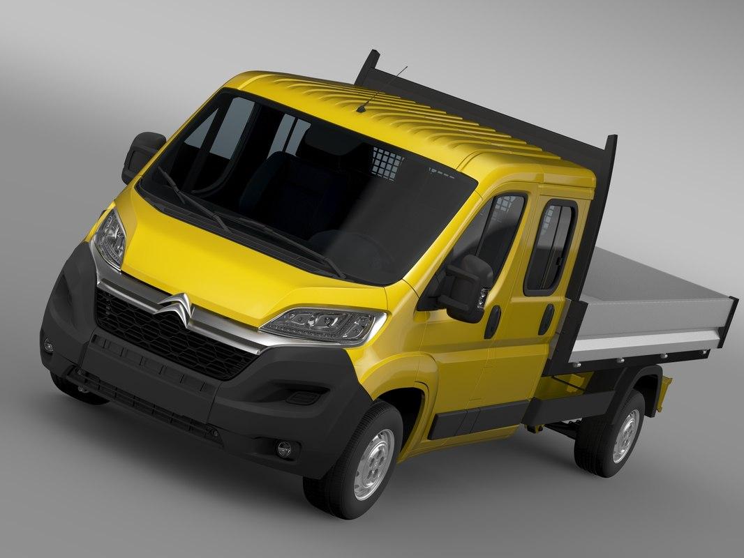 citroen jumper crew cab 3d 3ds
