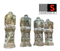 ancient column cambodia 8k 3d model