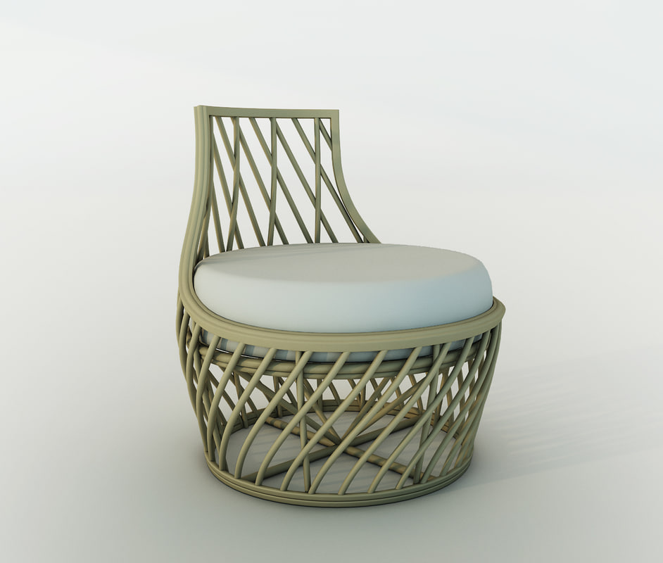 3d corner lounge chair