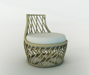3d corner lounge chair
