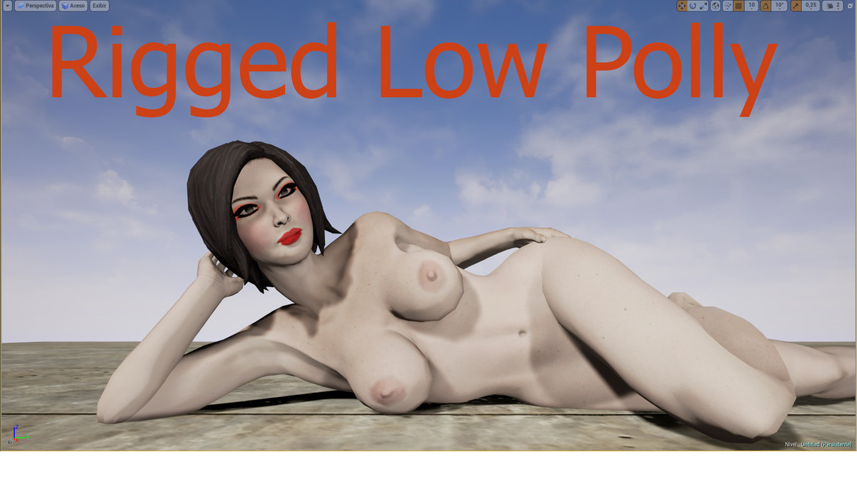 3d model low-poly female