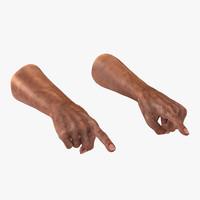 Old Man Hands Pose 2 3D Model