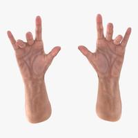 old man hands 3 3d 3ds