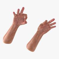 Old Man Hands 2 Pose 5 3D Model