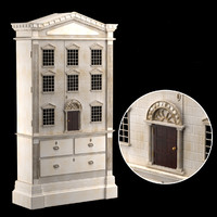 3d dolls house cabinet model