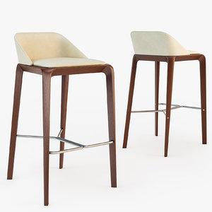 roche bobois brio bar stool 3d max