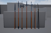 Polearm weapons collection
