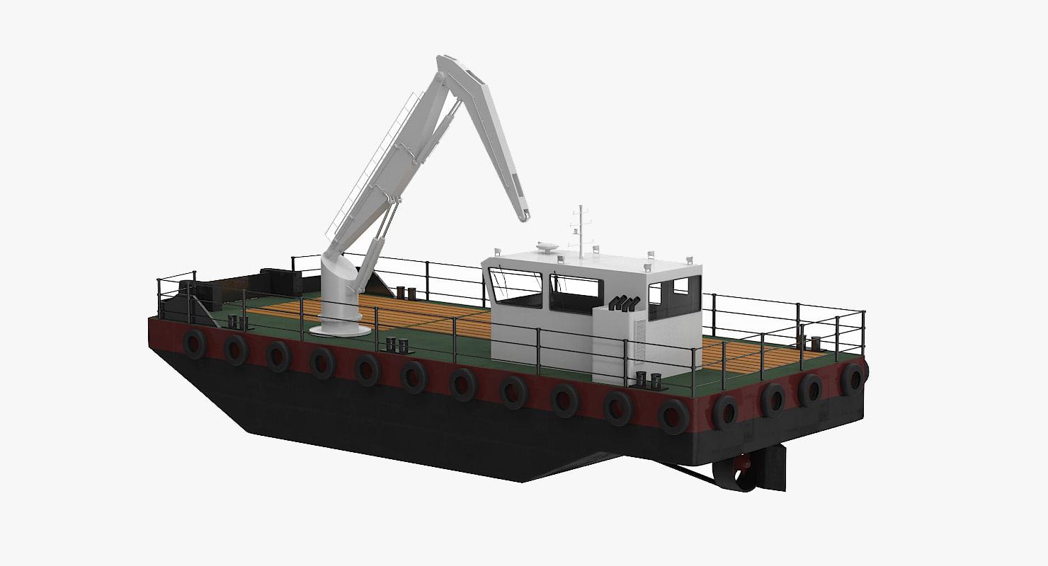 multicat workboat 3d 3ds