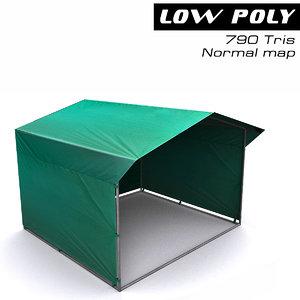 3d tent ready games model