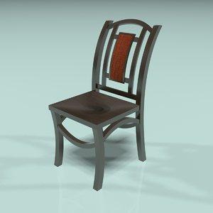 3d wood chair