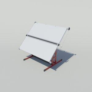 3d drawing board model