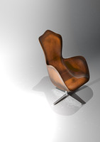 leather egg chair 3d model