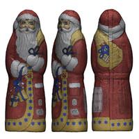 chocolate santa 3d model