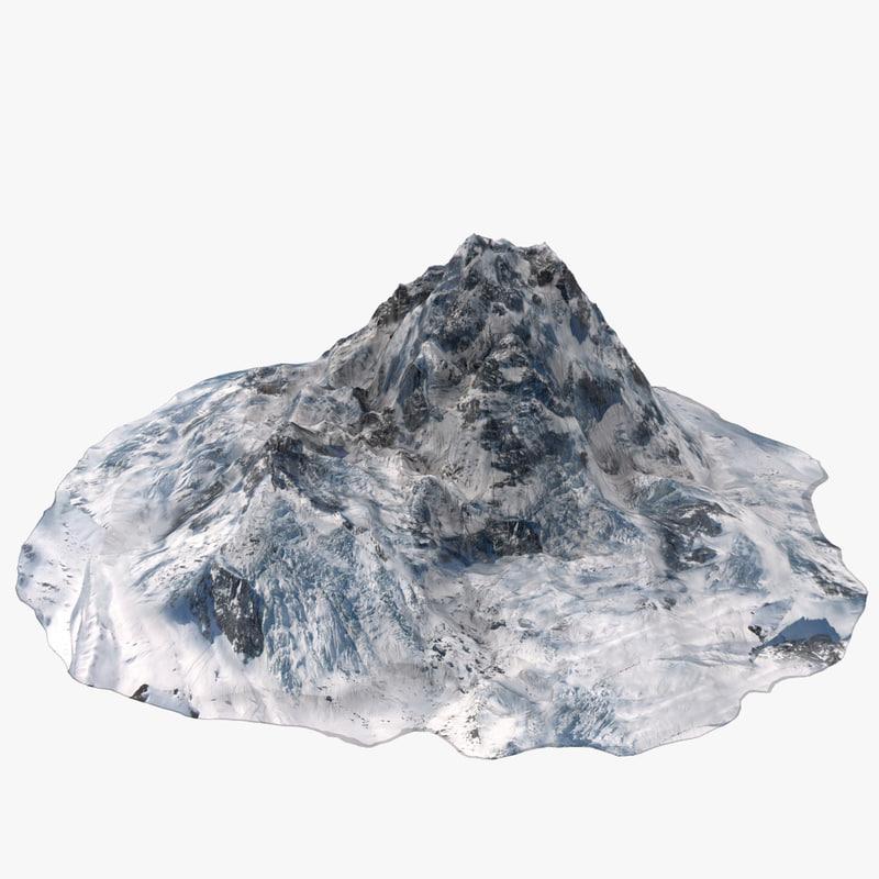 3d model mountain