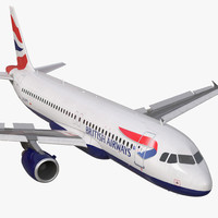3d airbus a320 british airways model
