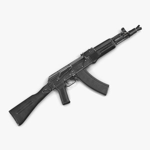 assault rifle ak 104 3d max