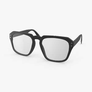 3d model clark kent glasses open