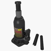 hydraulic jack 3d obj