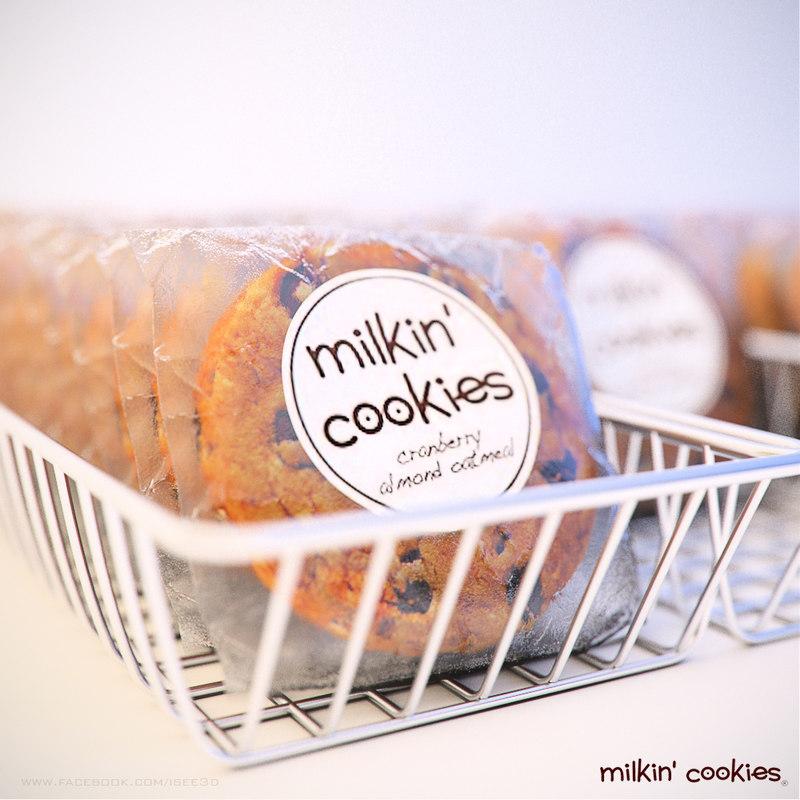 milkin cookies 3d max