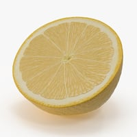 3d model lemon cross section