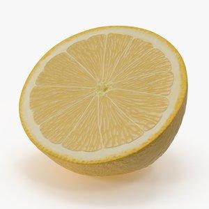 3d model lemon cross section