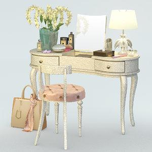 set table lamp 3d obj